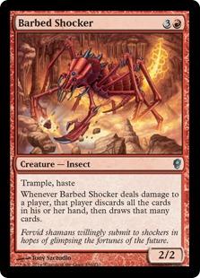 《棘のショッカー/Barbed Shocker》[CNS] 赤U