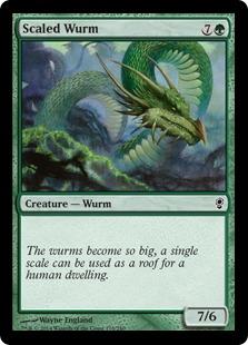 《甲鱗のワーム/Scaled Wurm》[CNS] 緑C