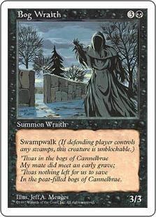 《沼の悪霊/Bog Wraith》[5ED] 黒U