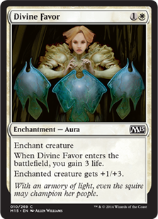【Foil】《神聖なる好意/Divine Favor》[M15] 白C