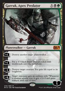 《頂点捕食者、ガラク/Garruk, Apex Predator》[M15] 金R
