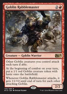 《ゴブリンの熟練扇動者/Goblin Rabblemaster》[M15] 赤R