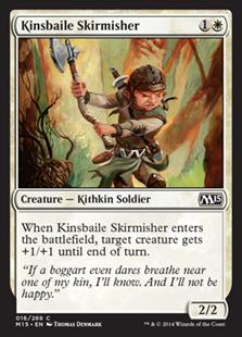 【Foil】《キンズベイルの散兵/Kinsbaile Skirmisher》[M15] 白C