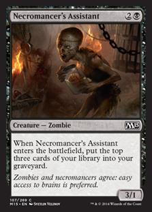 《屍術士の助手/Necromancer's Assistant》[M15] 黒C