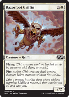 《カミソリ足のグリフィン/Razorfoot Griffin》[M15] 白C