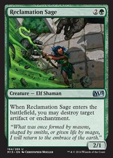 《再利用の賢者/Reclamation Sage》[M15] 緑U