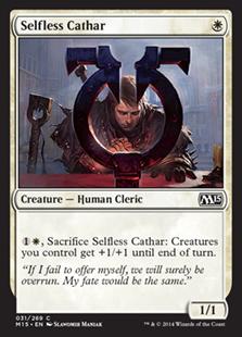 《無私の聖戦士/Selfless Cathar》[M15] 白C