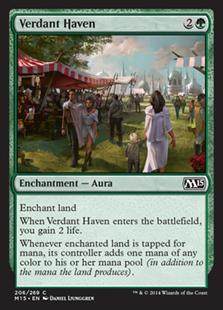 《新緑の安息所/Verdant Haven》[M15] 緑C