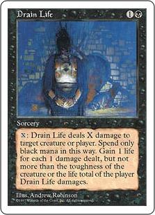 《生命吸収/Drain Life》[5ED] 黒C
