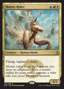 《カマキリの乗り手/Mantis Rider》[KTK] 金R