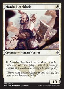 【Foil】《マルドゥの悪刃/Mardu Hateblade》[KTK] 白C