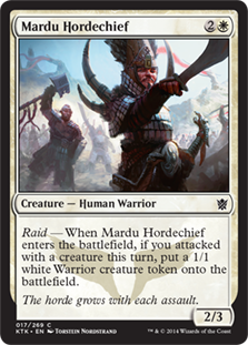 【Foil】《マルドゥの軍族長/Mardu Hordechief》[KTK] 白C