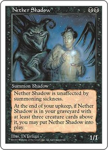 《冥界の影/Nether Shadow》[5ED] 黒R