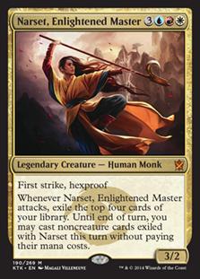 《悟った達人、ナーセット/Narset, Enlightened Master》[KTK] 金R