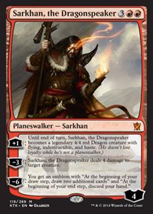 《龍語りのサルカン/Sarkhan, the Dragonspeaker》[KTK] 赤R