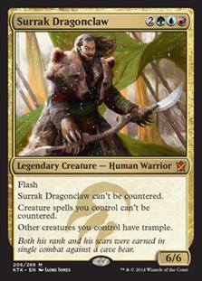 《龍爪のスーラク/Surrak Dragonclaw》[KTK] 金R