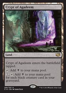 《アガディームの墓所/Crypt of Agadeem》[C14] 土地R