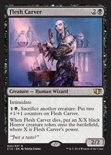 《肉裂き魔/Flesh Carver》[C14] 黒R