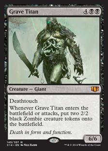 《墓所のタイタン/Grave Titan》[C14] 黒R