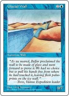 《氷河の壁/Glacial Wall》[5ED] 青U
