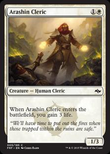 《アラシンの僧侶/Arashin Cleric》[FRF] 白C