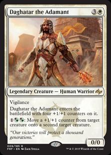 《不屈のダガタール/Daghatar the Adamant》[FRF] 白R