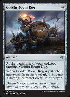 《ゴブリンの爆裂樽/Goblin Boom Keg》[FRF] 茶U