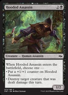 《頭巾被りの暗殺者/Hooded Assassin》[FRF] 黒C