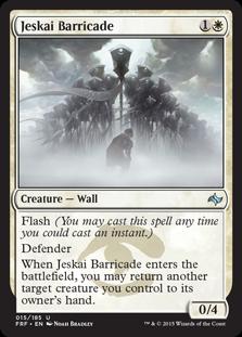 《ジェスカイのバリケード/Jeskai Barricade》[FRF] 白U