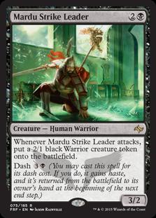 《マルドゥの急襲指揮者/Mardu Strike Leader》[FRF] 黒R