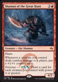 《大いなる狩りの巫師/Shaman of the Great Hunt》[FRF] 赤R
