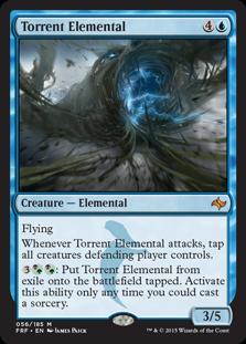 《奔流の精霊/Torrent Elemental》[FRF] 青R