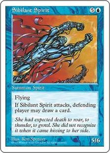 《風鳴りの精/Sibilant Spirit》[5ED] 青R