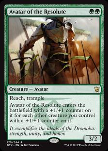 《毅然さの化身/Avatar of the Resolute》[DTK] 緑R