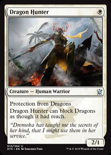 《ドラゴンを狩る者/Dragon Hunter》[DTK] 白U