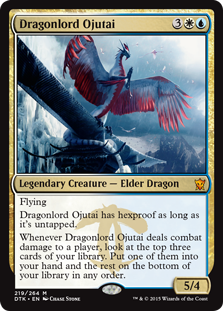 《龍王オジュタイ/Dragonlord Ojutai》[DTK] 金R