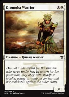《ドロモカの戦士/Dromoka Warrior》[DTK] 白C