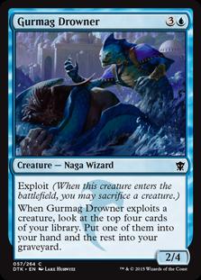 《グルマグの溺れさせるもの/Gurmag Drowner》[DTK] 青C