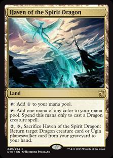 《精霊龍の安息地/Haven of the Spirit Dragon》[DTK] 土地R