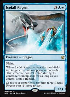 《氷瀑の執政/Icefall Regent》[DTK] 青R