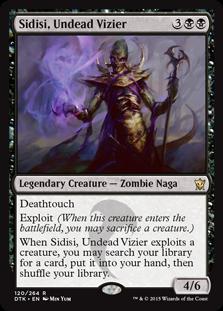 《アンデッドの大臣、シディシ/Sidisi, Undead Vizier》[DTK] 黒R