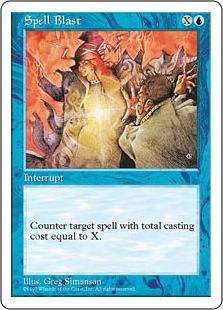 《呪文破/Spell Blast》[5ED] 青C