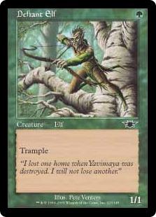 《果敢なエルフ/Defiant Elf》[LGN] 緑C