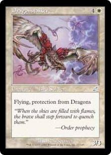 【Foil】《ドラゴンをつけ狙う者/Dragonstalker》[SCG] 白U