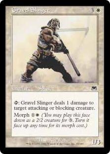 【Foil】《石弾投擲兵/Gravel Slinger》[ONS] 白C