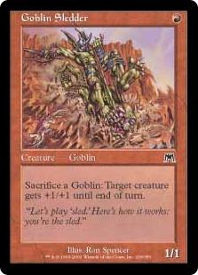 《ゴブリンのそり乗り/Goblin Sledder》[ONS] 赤C