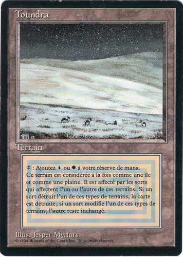 【黒枠】《Tundra》[3EDBB] 土地R