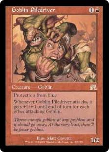 《ゴブリンの群衆追い/Goblin Piledriver》[ONS] 赤R