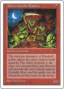 《モンスのゴブリン略奪隊/Mons's Goblin Raiders》[5ED] 赤C