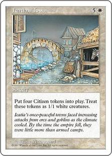《アイケイシアの都市/Icatian Town》[5ED] 白R
